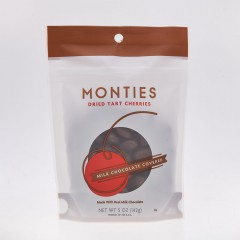 Monties Dried Tart Cherries - Milk Chocolate Covered