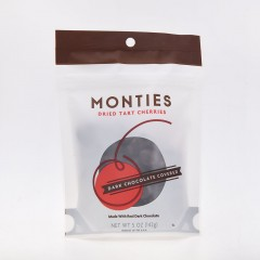Monties Dried Tart Cherries - Dark Chocolate Covered